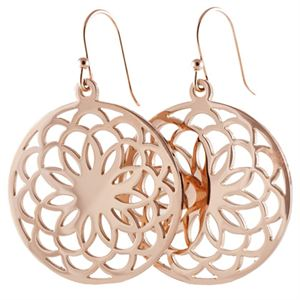 Picture of Rose Gold Flower Screen Earrings